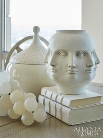 Sculptural accessories.