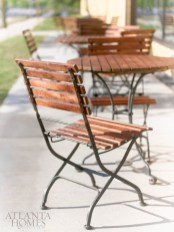 Outdoor seating offers a comfortable place to enjoy meals in the sunshine.