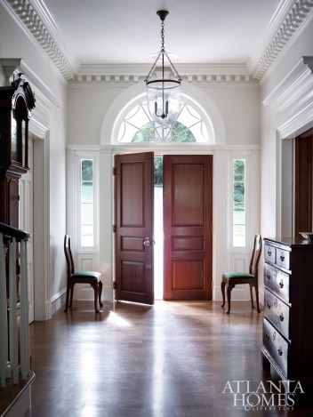 """""""For the cornice in the entry hall, we added modillion blocks to give it a bit more robust architecture as you enter the house."""""""