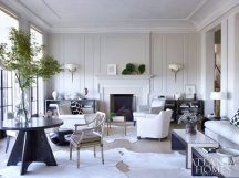 In the restrained yet welcoming living room, Betsy Brown's ethereal interiors complete the feeling of quiet intrigue in this compellingly designed residence.