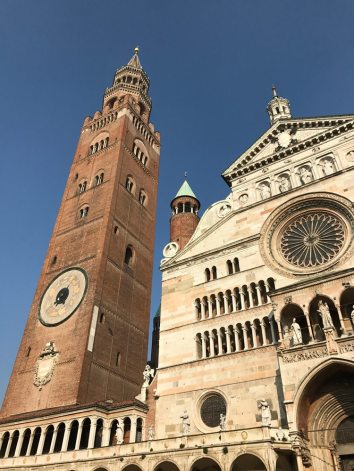 Climb the 502 steps inside Cremona Cathedral's brick bell tower.