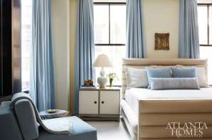 Turner treated each bedroom with a single, soft accent color for a tranquil effect.