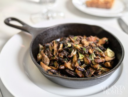 Sauteed mushrooms at The Brasserie
