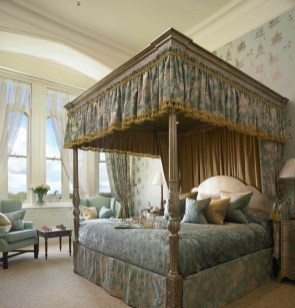 Guest rooms offer all the comforts of modern life while preserving the castle's historic integrity.