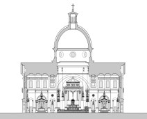 III_Cathedral-of-the-Most-Sacred-Heart-of-Jesus_Transept-Section-and-Interior-Elevation