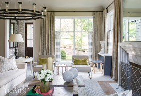 Previously the O'More College of Design's 2017 Designer Show House, this Nashville home was transformed into a cohesive and livable retreat by interior designer Jonathan Savage to suit the needs of its new homeowners.