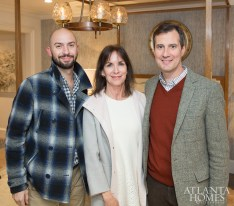 Justin Hood and Stephen Boyd of Jerry Pair with Maria McLaurin of McLaurin Interiors