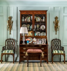 The house may be new to the Newton's but it has all the comforts of a forever home thanks to Mathison Glenn's use of numerous family antiques.