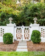 """Ingram sketched numerous options for the patio doors before landing on this notched-out design, which is also mimicked on the home's gates. """"The size of the home gave the opportunity to surprise and delight with different flourishes from room to room. Too much of one motif would have overwhelmed,"""" he says."""