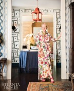 Tastemaker, fashion designer and decorator Danielle Rollins in her Buckhead residence. Photo by Lesley Unruh/One Kings Lane