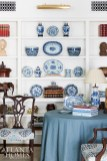 Bentley started the owners' collection of blue-and- white porcelains 30 years ago. When a collection came onto the market during this home renovation, Bentley was able to secure more pieces for her client.