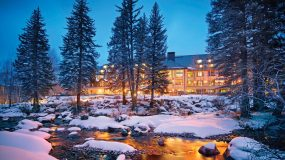 The Grand Hyatt Vail is nestled at the base of Vail Mountain, alongside the banks of Gore Creek.