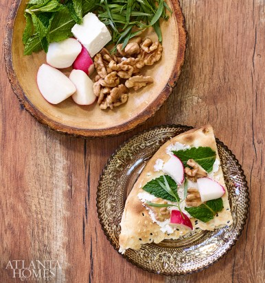 Featuring walnuts, herbs, radishes and cheese, the Sabzi plate is commonly served with every meal in Persian culture to enjoy as a small bite or to add to main dishes.