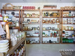Southern-made goods such as Holeman and Finch Bloody Mary mix, Hop's Kitchen chicken breader and specialty kitchenware line the shelves of The Buttery ATL.