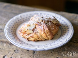 The almond croissant is equal parts eye-catching and delicious.
