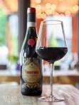 The extensive wine list includes Amarone della Valpolicella.