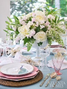 """""""I never set the same table twice. I use melamine and paper when entertaining informally outside in the summer."""" —Sande Beck"""