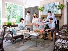 """Beck's husband, Lance, and the Beck boys always appreciate her fun family gatherings. """"None of my sons will become designers, but they always notice when a home is well decorated,"""" says Beck."""