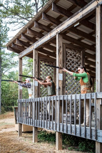 Button up your aim at one of two 14-station clays courses.