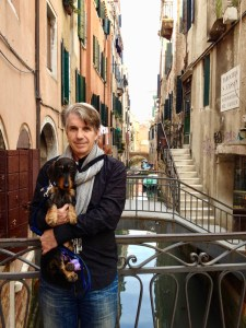 Born in Italy, Vivian has visited much of the country. Here she poses with Frank, Joseph's husband, in Venice.