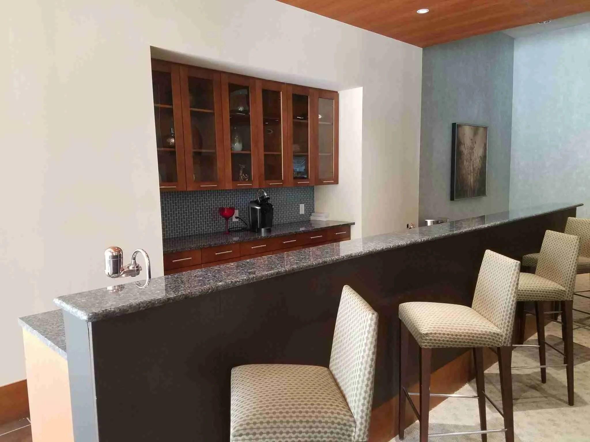 The Realm Condominium bar Area