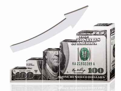 Graph formed by 100 dollar bill