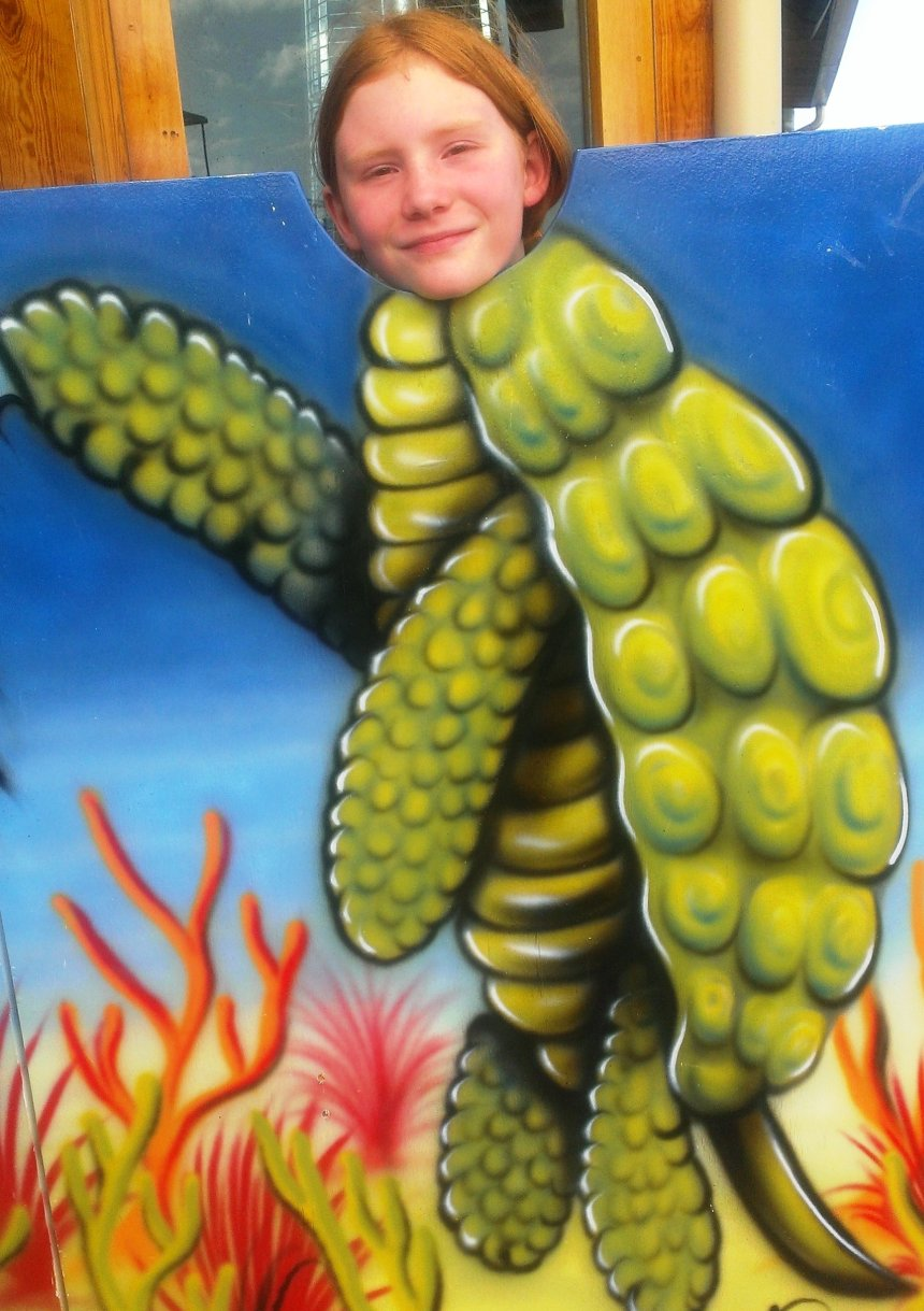 atlanta party fun - sea turtle girl