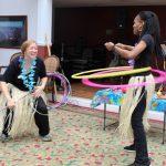 Hula Hooping to Steel Pan Drum Music