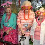 Three Ladies At Resident Luau Party Performed by Atlanta Steel Pan Musicians
