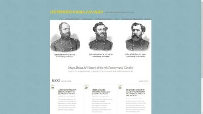 7th Pennsylvania Cavalry Website Design
