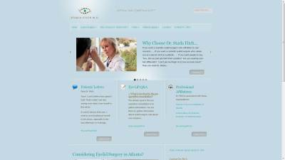Atlanta Eyelid Surgery Website Design
