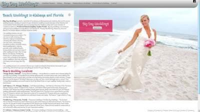 Big Day Weddings Website Design