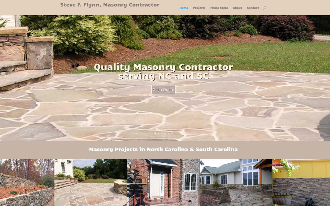Carolina Masonry Contractor Website Design