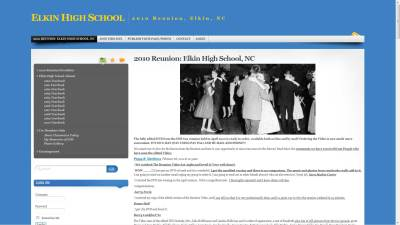 Elkin H.S. Reunion Website Design