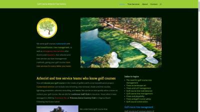 Golf Course Arborist Website Design