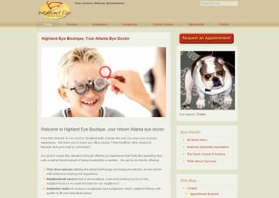 Highland Eye Boutique Website Design