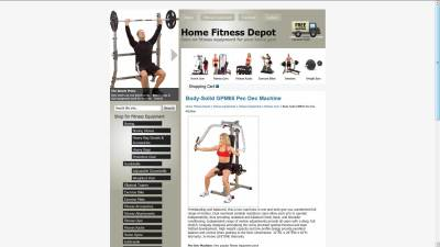 Home Fitness Depot Website Design