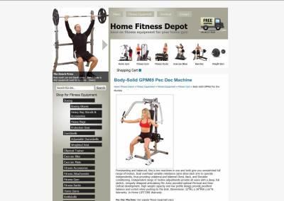 Home Fitness Depot Website Design