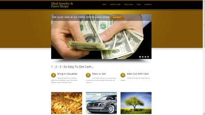 Ideal Jewelry and Pawn Website Design