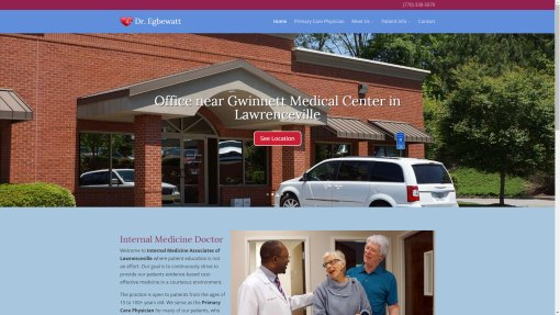 Internal Medicine Associates of Lawrenceville Web Design