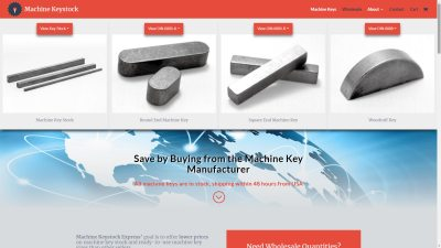Machine Keystock Website Design