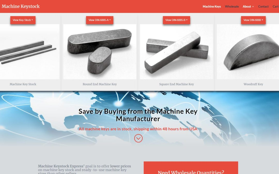 Machine Keystock Website Design