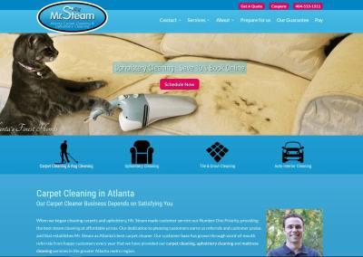 Mr. Steam Website Design