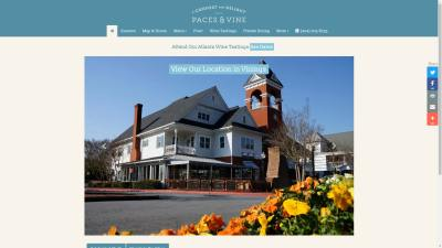 Paces and Vine Restaurant Website Design