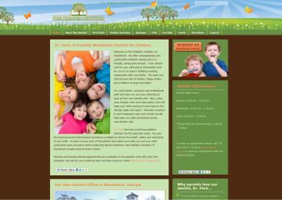 Dentist: Park Pediatric Website Design