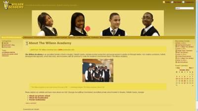 Wilson Academy Website Design