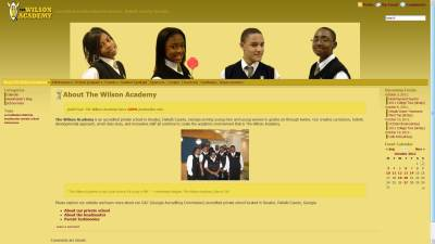 Wilson Academy Website Design