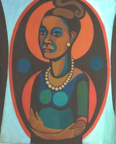 "Faith Ringgold, ""Early Works #25: Self-Portrait,"" 1965, oil on canvas, 50 x 40 inches. Courtesy of Faith Ringgold and ACA Galleries, New York. © Faith Ringgold 1965."