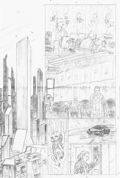 """Lápis da página 1 de """"The Experiment"""""""
