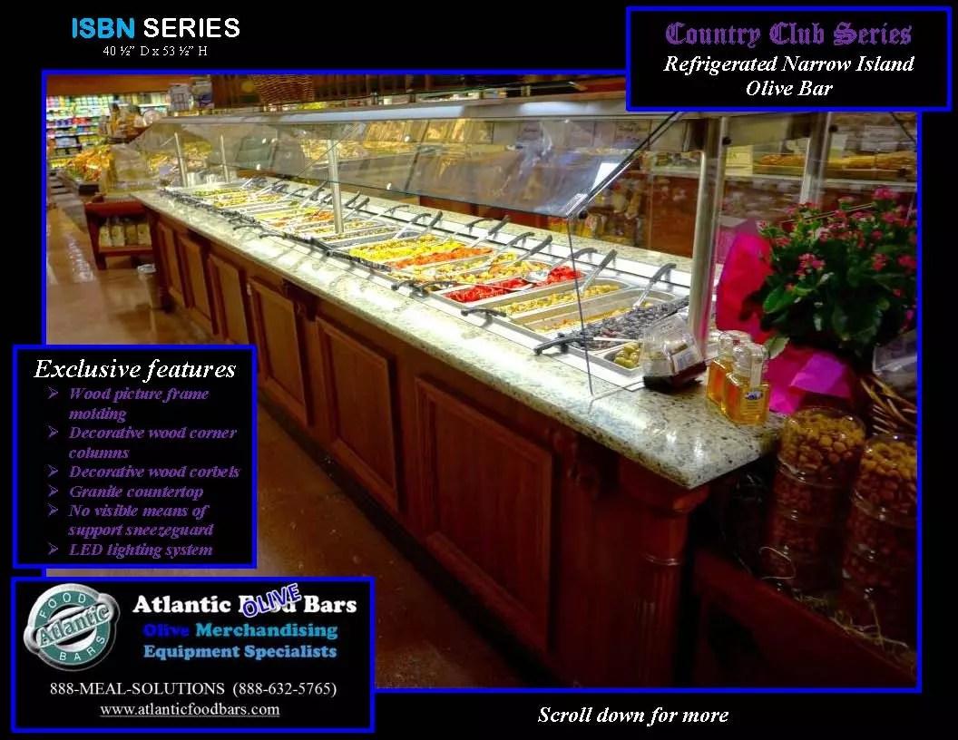 Atlantic Food Bars - Country Club Series Narrow Olive Bar - ISBN17838